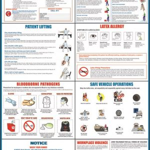 healthcare safety poster 8-in-one
