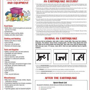 earthquake preparedness poster CA