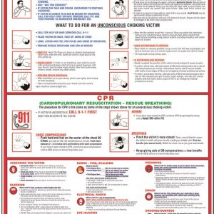 first aid, choking, and cpr poster for your workplace