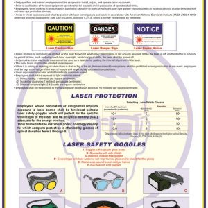 laser eye protection safety poster