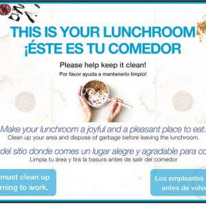 lunch room cleanliness poster